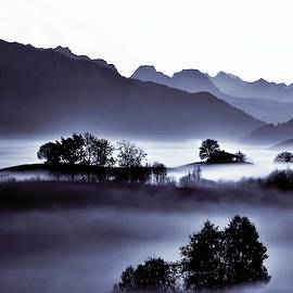 Misty Morn in Switzerland by Susan Maxwell Schmidt