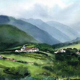 Misty Morning in Sao Miguel Azores Portugal by Dora Hathazi Mendes