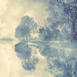 Misty Winter Landscape by Alex Mir