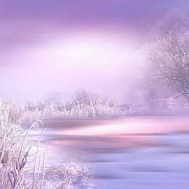 Misty Winter Landscape by KaFra Art