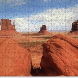 Mitten Buttes at Monument Valley - Puzzle by Donna Kennedy