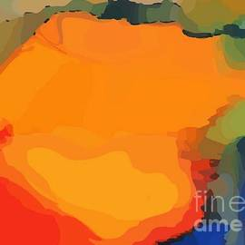 Modern Abstract Orange by Sarah Niebank