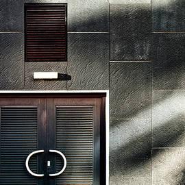 Modern Door on a Wall Background by Arro FineArt