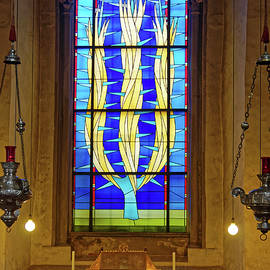 Modern Stained Glass Window by Sally Weigand