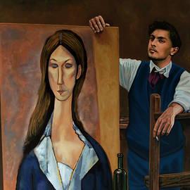 Modigliani Painting by Paul Meijering