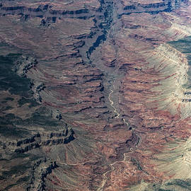 Mohawk Canyon in Grand Canyon National Park Aerial View  by David Oppenheimer