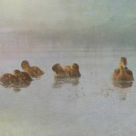 Momma Plus Five - Mallard with Goslings by Patti Deters