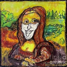 Mona Lisa wearing a Face Mask  by Geraldine Myszenski