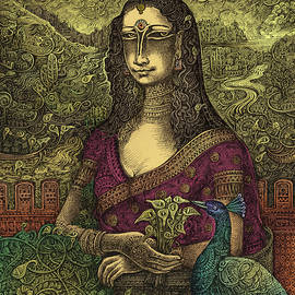 Monalisa Indianised by Ramesh Nair