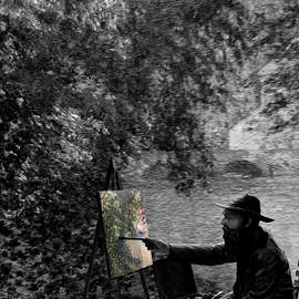 Monet in Monet - selective color  by William Moore