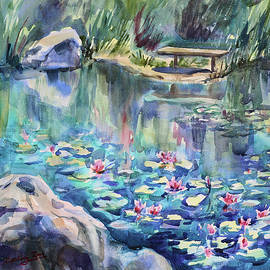 Monet's Lily Pond IV by Xueling Zou
