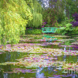 Monet's Waterlily Pond, Giverny, France, Painterly by Liesl Walsh