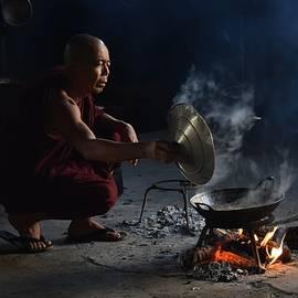 Monk in the kitchen by Robert Bociaga