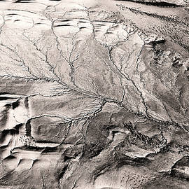 Monotone Aerial View of Wilpena Pound by Lexa Harpell