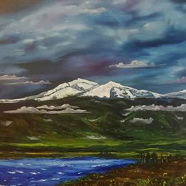Montana Summer Storm on Ennis Lake          2043 by Cheryl Nancy Ann Gordon