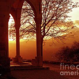 Montegrazie Church Sunset by Peter Horrocks