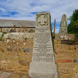 Monument to Dolly Pentreath, St Paul Aurelian Church, Paul, Cornwall, England. by Joe Vella