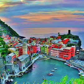 Mood Lighting Over Vernazza by Frozen in Time Fine Art Photography