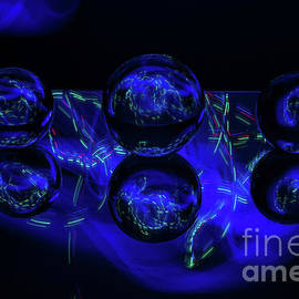 Moody Blue Crystal Balls by Linda Howes