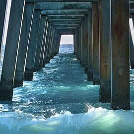 Moody Blue Under the Pier by Rebecca Herranen
