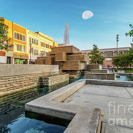 Moon Over Springfield Square by Jennifer White
