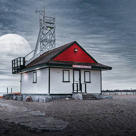 Moon Over the Lifeguard Station by Dee Potter