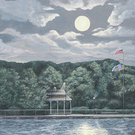 Moon over the Wharf by Aicy Karbstein