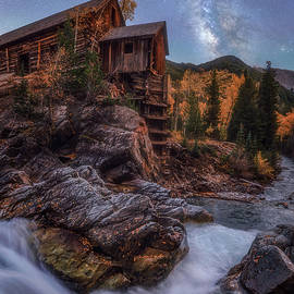 Moonlight Milky Way at the Crystal Mill by Darren White