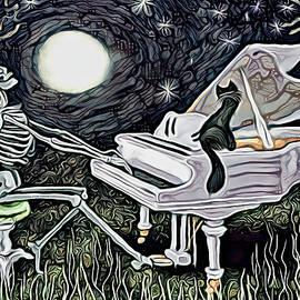 MOONLIGHT SONATA abstract by Cathy Chaton