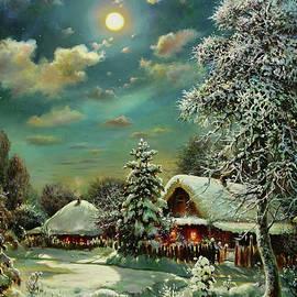 Moonlit Winter Night by Serhiy Kapran