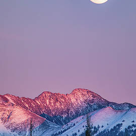 Moonrise over Alpineglow on Bowen Mountain by Adam Pender