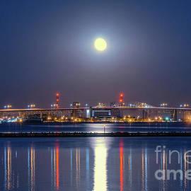 Moonrise Over Burlington Bay by Charline Xia