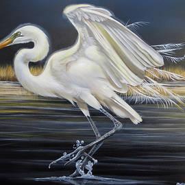 Moonstruck Egret by Phyllis Beiser