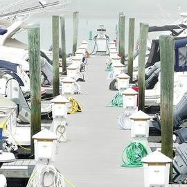 Mooring Line and Power Pedestals for Yachts by Lyuba Filatova