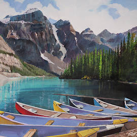Moraine Lake Canada by Bill Dunkley