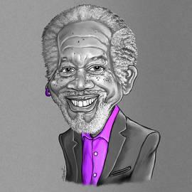 Morgan Freeman Caricature by Anthony Mwangi