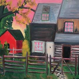 Morgan Log House by Marita McVeigh