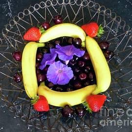 Morning Glory Cherry Still Life 1 by Barbie Corbett-Newmin