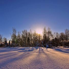 Sunrise in Lapland by Abrahan Fraga