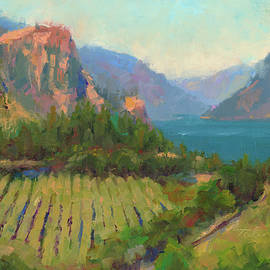 Morning Reverie - plein air landscape of Columbia River Gorge by Talya Johnson