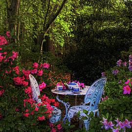 Morning Tea Amongst the Azaleas  by Ola Allen
