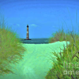 Morris Island Lighthouse - Photopainting by Allen Beatty
