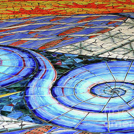 Mosaic Floor Design by Kathryn Jones