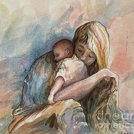 Motherhood in watercolor by Elizabeth Allen