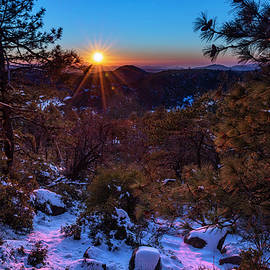 Mount Laguna Snowy Sunset by Scott Cunningham