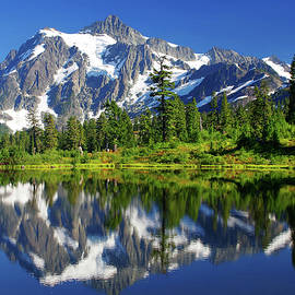 MOUNT SHUKSAN REFLECTION - FINE ART MOUNTAIN PHOTOGRAPHY and a BEAUTIFUL 1,000 pc. JIGSAW PUZZLE KIT by Douglas Taylor