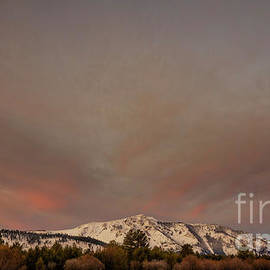 Mount Tallac sunrise mooned after the storm, El Dorado National Forest, California, U. S. A. by PROMedias Obray