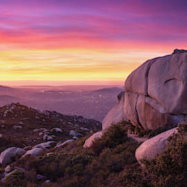 Mount Woodson Sunset Panorama by William Dunigan