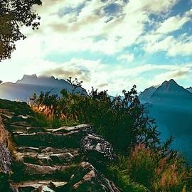 Mountain Path Steps Near Gorgeviewhurst L A S by Gert J Rheeders