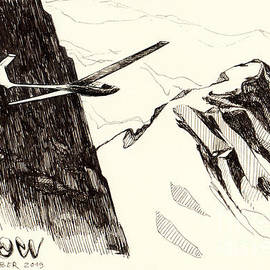 Mountain Soaring on Snowy Slopes by Netta Canfi